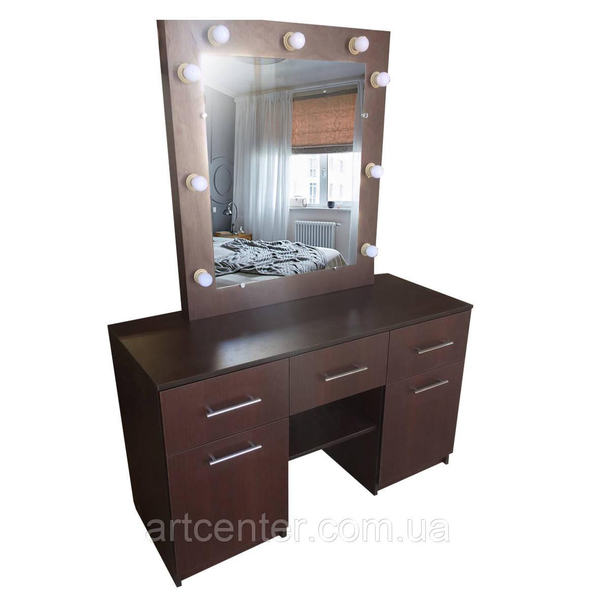 Зеркало для визажиста, стол гримёрный.