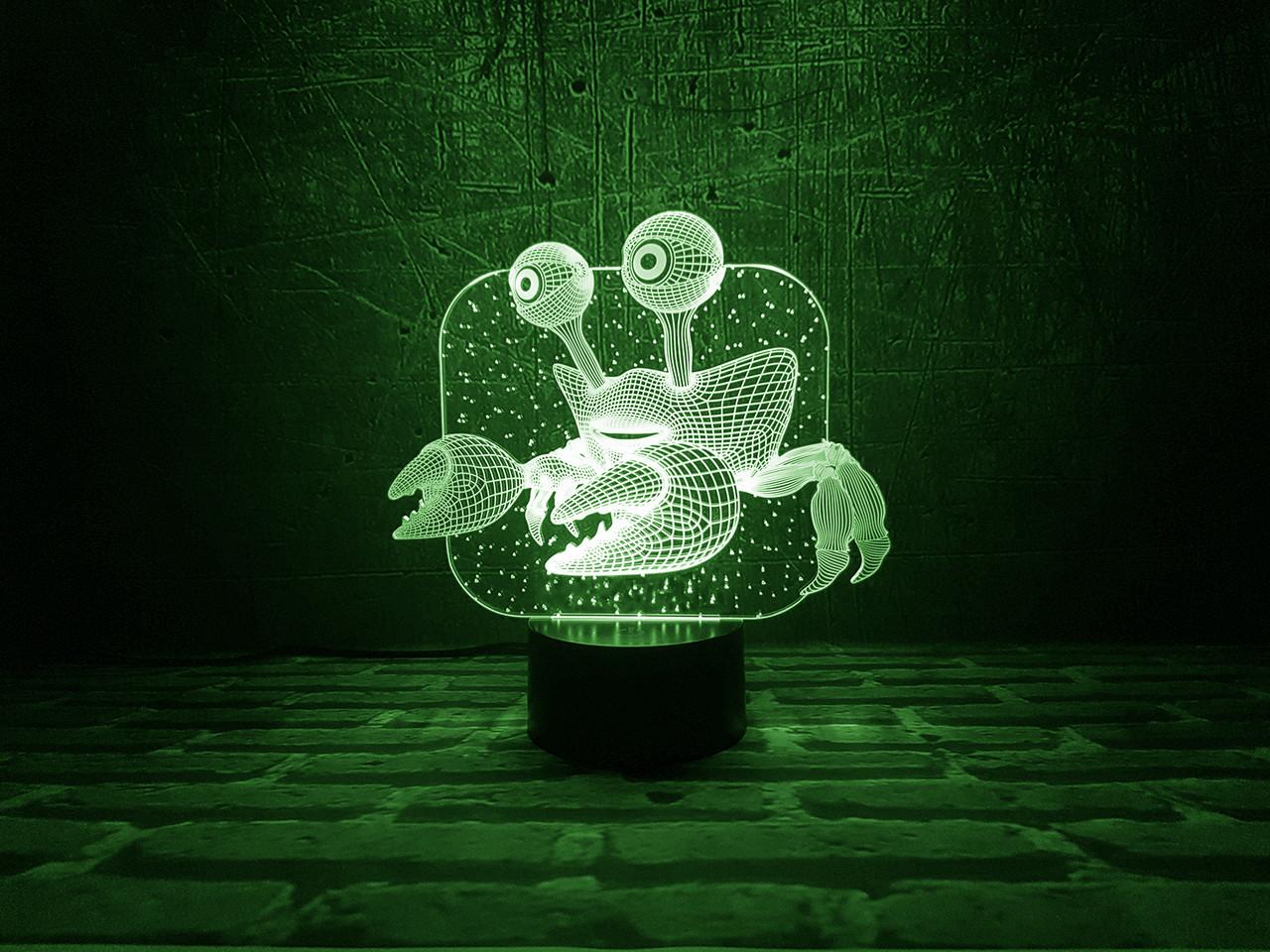 """Сменная пластина для 3D ламп """"Краб"""" 3DTOYSLAMP"""