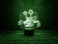"""Сменная пластина для 3D ламп """"Краб"""" 3DTOYSLAMP, фото 1"""