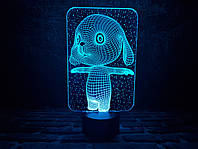 "Сменная пластина для 3D ламп ""Зайка"" 3DTOYSLAMP, фото 1"