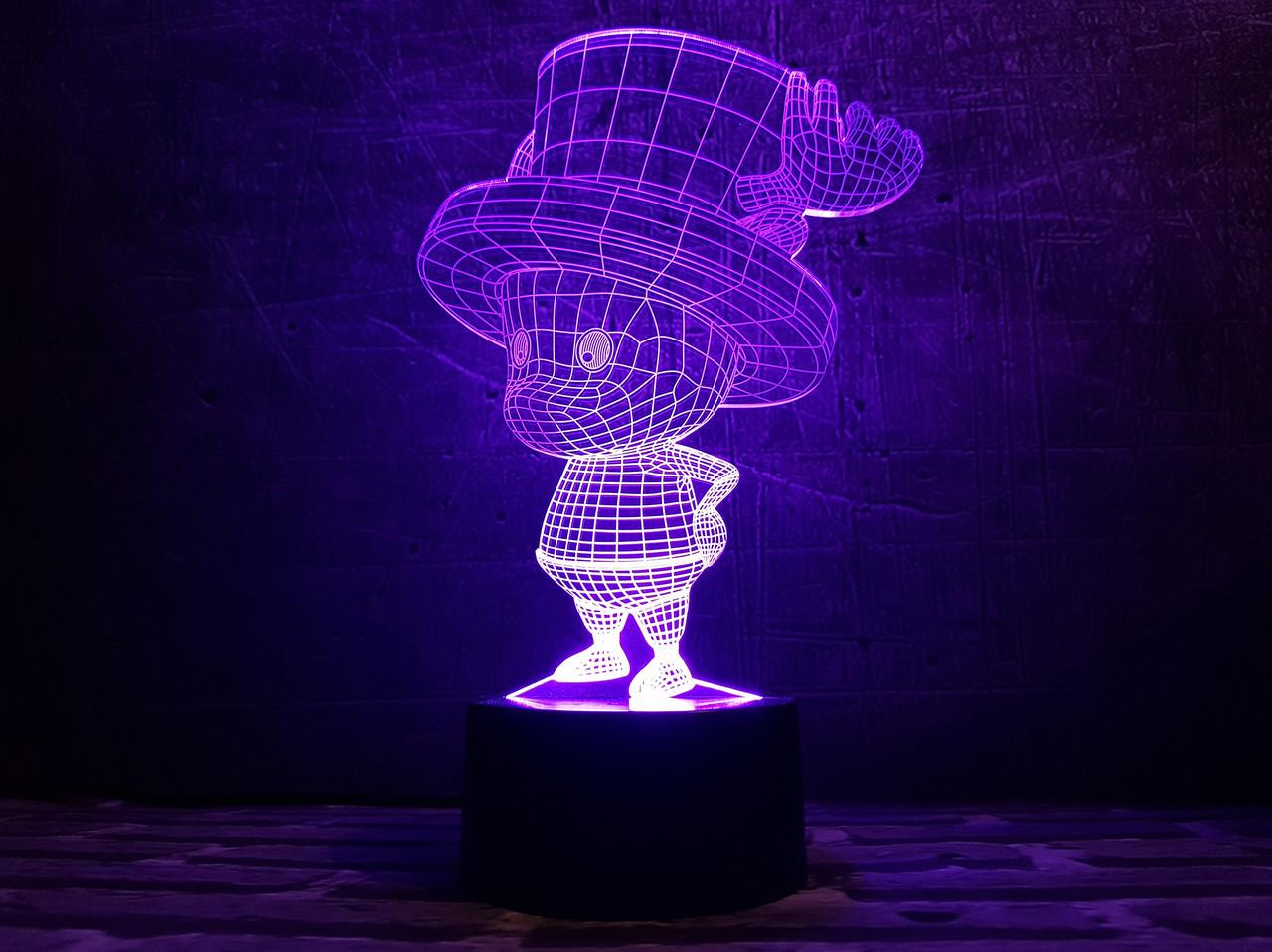 """Сменная пластина для 3D светильников """"Гномик"""" 3DTOYSLAMP"""