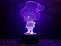 """Сменная пластина для 3D светильников """"Гномик"""" 3DTOYSLAMP, фото 1"""