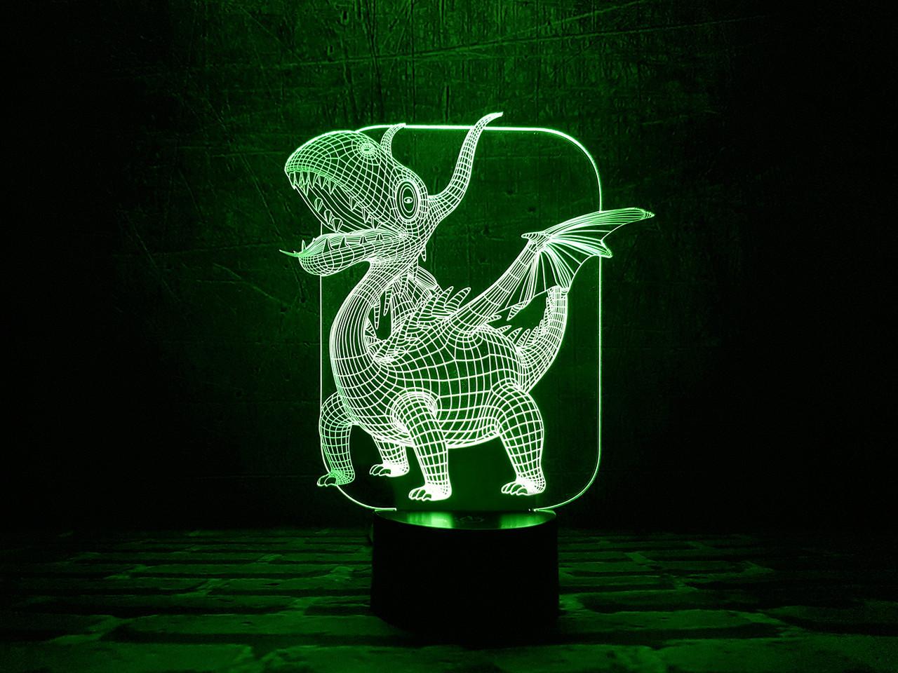 """Сменная пластина для 3D светильников """"Дракоша"""" 3DTOYSLAMP"""
