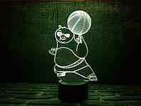 """Сменная пластина для 3D светильников """"Панда ПО"""" 3DTOYSLAMP, фото 1"""