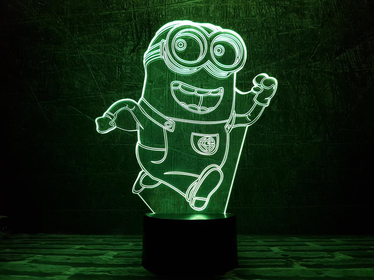 """Сменная пластина для 3D светильников  """"Миньон"""" 3DTOYSLAMP"""
