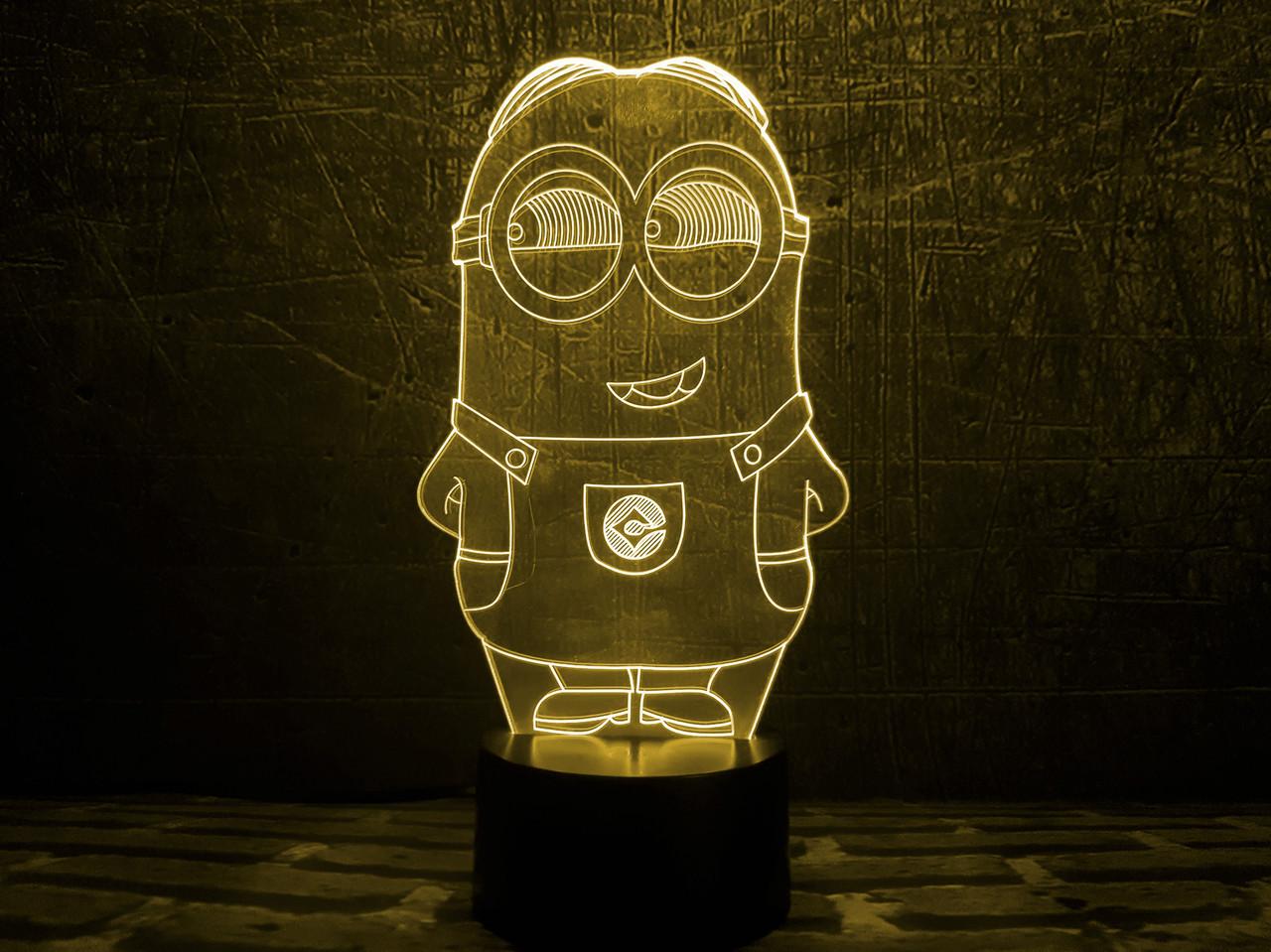 """Сменная пластина для 3D светильников  """"Миньон 2"""" 3DTOYSLAMP, фото 1"""