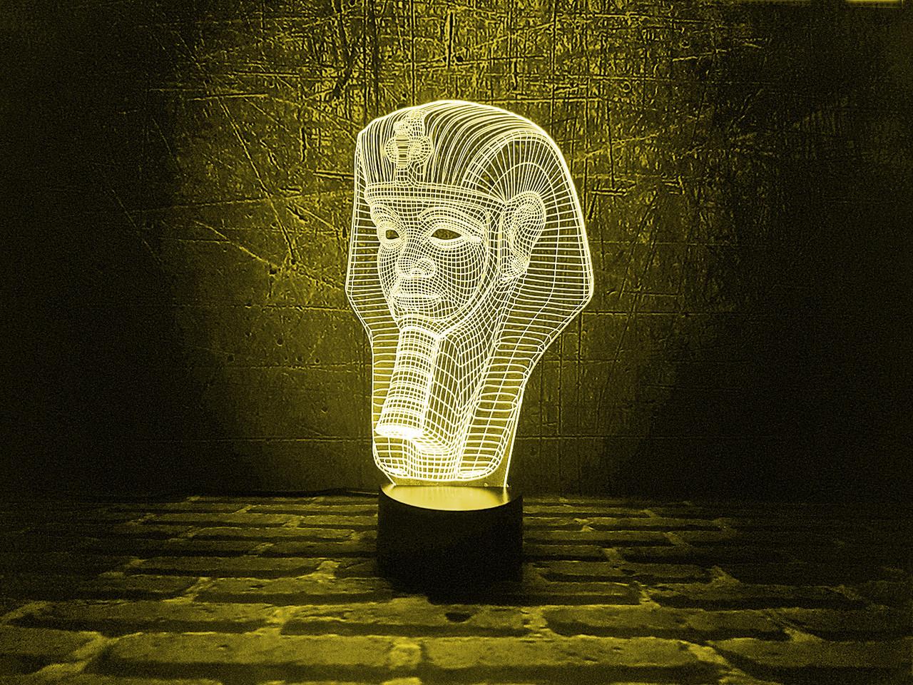 """Сменная пластина для 3D светильников """"Тутанхамон"""" 3DTOYSLAMP"""