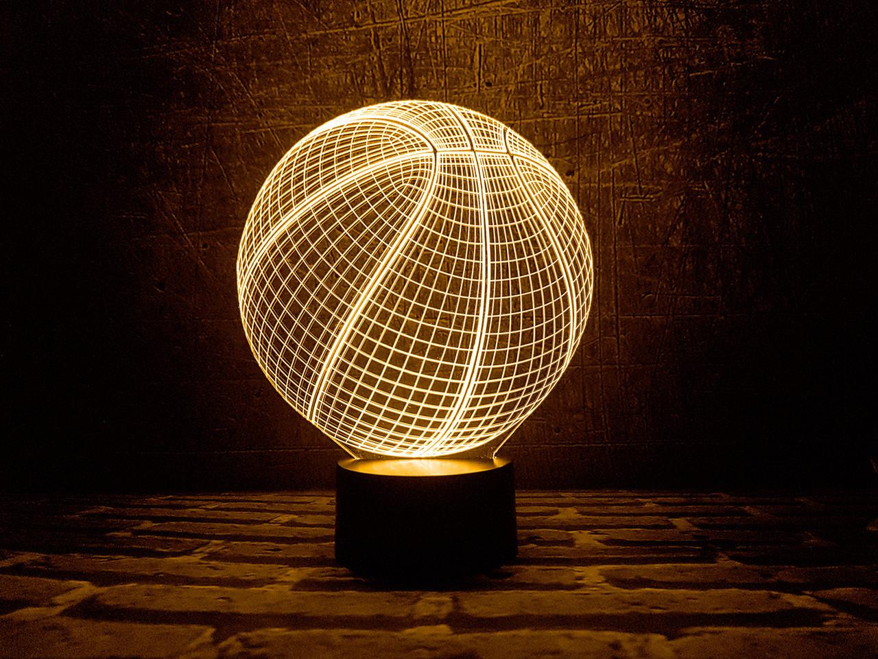 """Сменная пластина для 3D светильников """"Баскетбольный мяч"""" 3DTOYSLAMP"""
