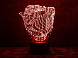 """Сменная пластина для 3D светильников  """"Роза"""" 3DTOYSLAMP"""
