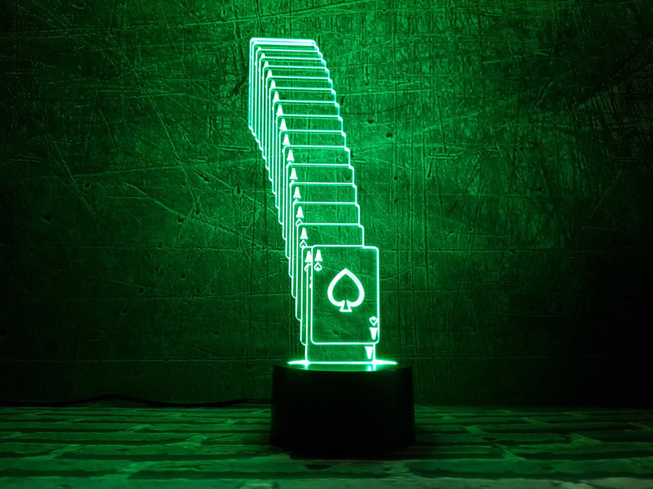 """Сменная пластина для 3D светильников """"Тузы"""" 3DTOYSLAMP"""