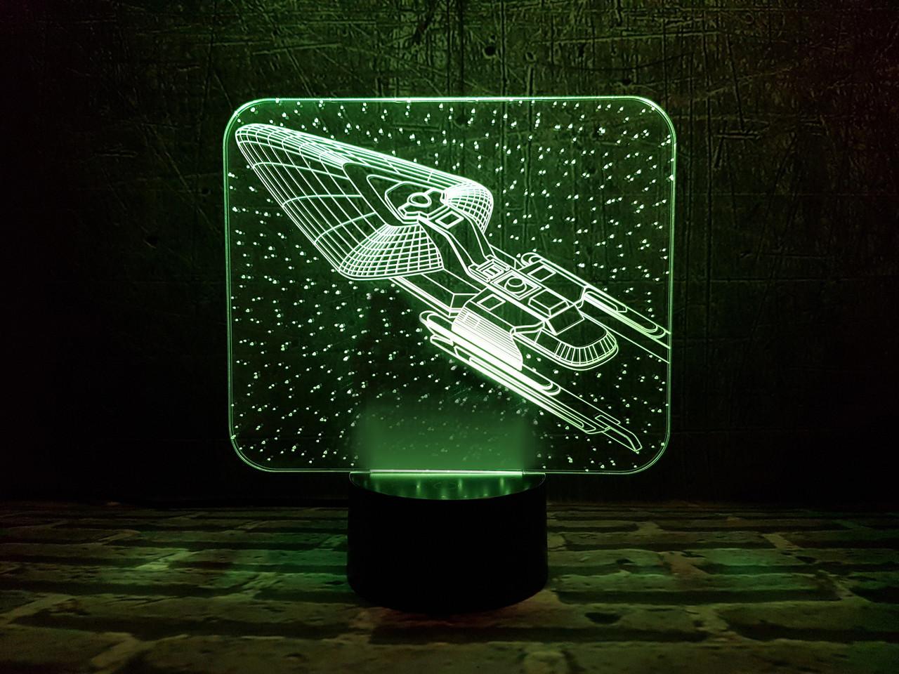 """Сменная пластина для 3D светильников """"Космический корабль 4"""" 3DTOYSLAMP"""