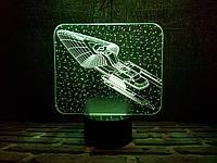 """Сменная пластина для 3D светильников """"Космический корабль 4"""" 3DTOYSLAMP, фото 1"""
