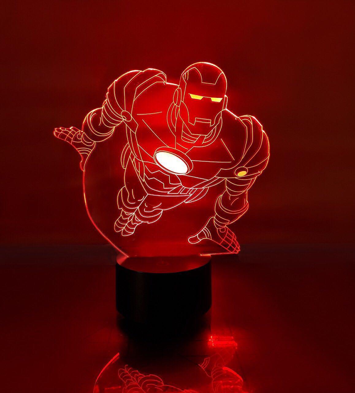 """Сменная пластина для 3D ночника """"Железный человек 2"""" 3DTOYSLAMP"""