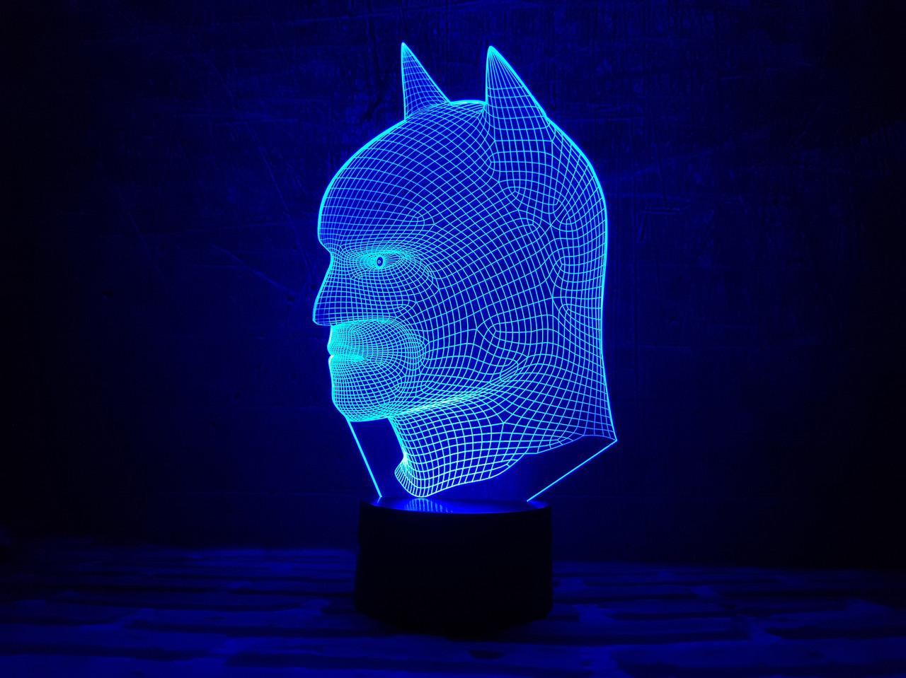 "Сменная пластина для 3D ночника ""Бэтмен 2"" 3DTOYSLAMP, фото 1"