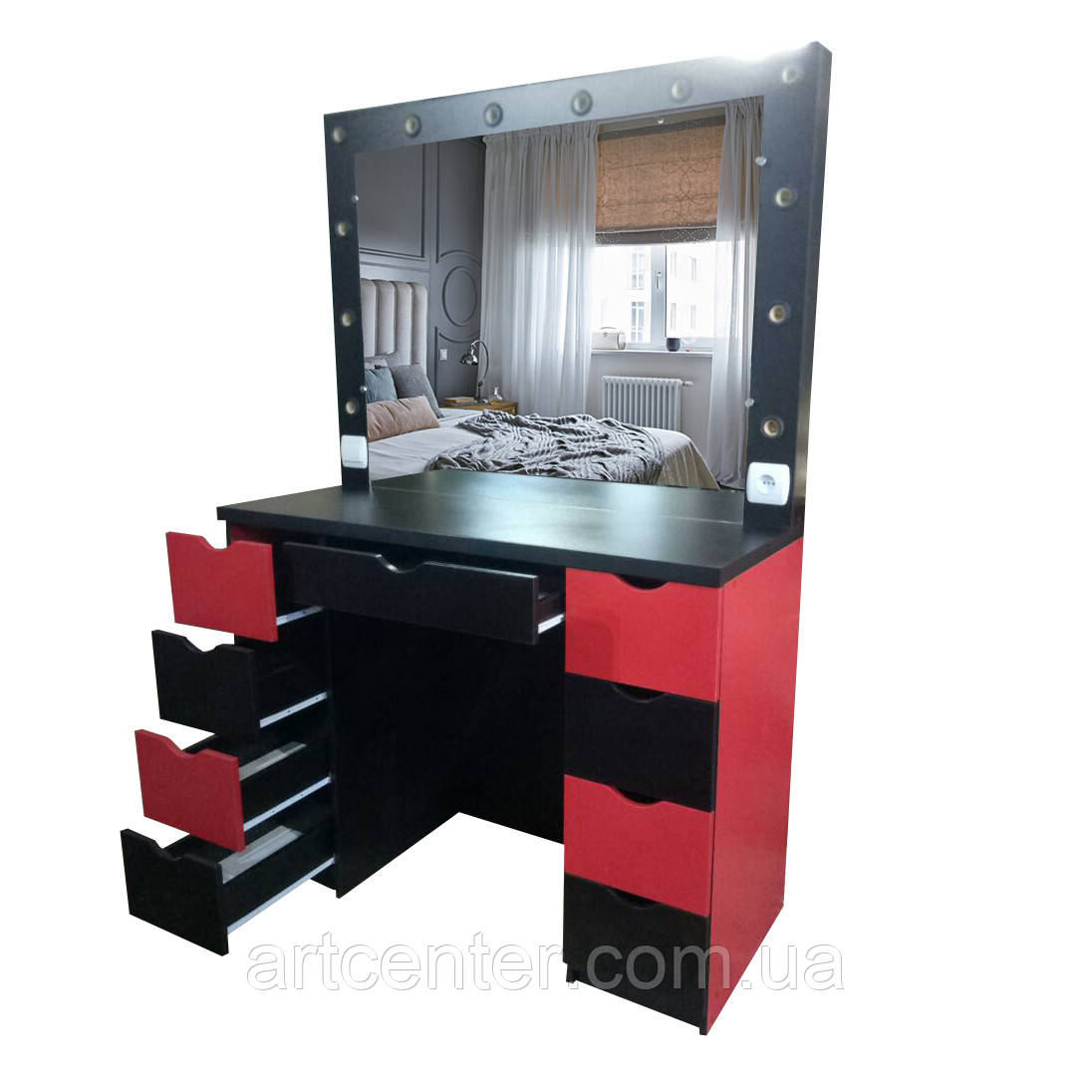 Стіл з дзеркалом, стіл для перукаря, стіл для візажиста