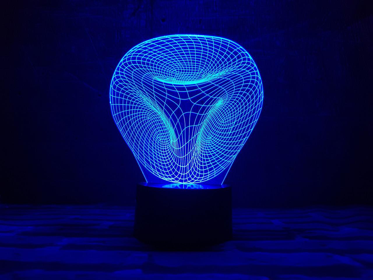 """Сменная пластина для 3D ночника с сенсорной панелью 7 цветов """"Иллюзия"""" 3DTOYSLAMP"""