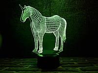 "Сменная пластина для 3D ночника ""Единорог"" 3DTOYSLAMP, фото 1"