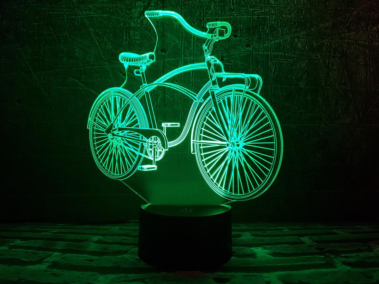 "3D ночник ""Велосипед "" 3DTOYSLAMP"