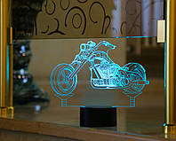 "3D Светильник ""Мотоцикл 3"" 3DTOYSLAMP, фото 1"