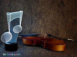 "3d светильник ""Нота"" 3DTOYSLAMP"