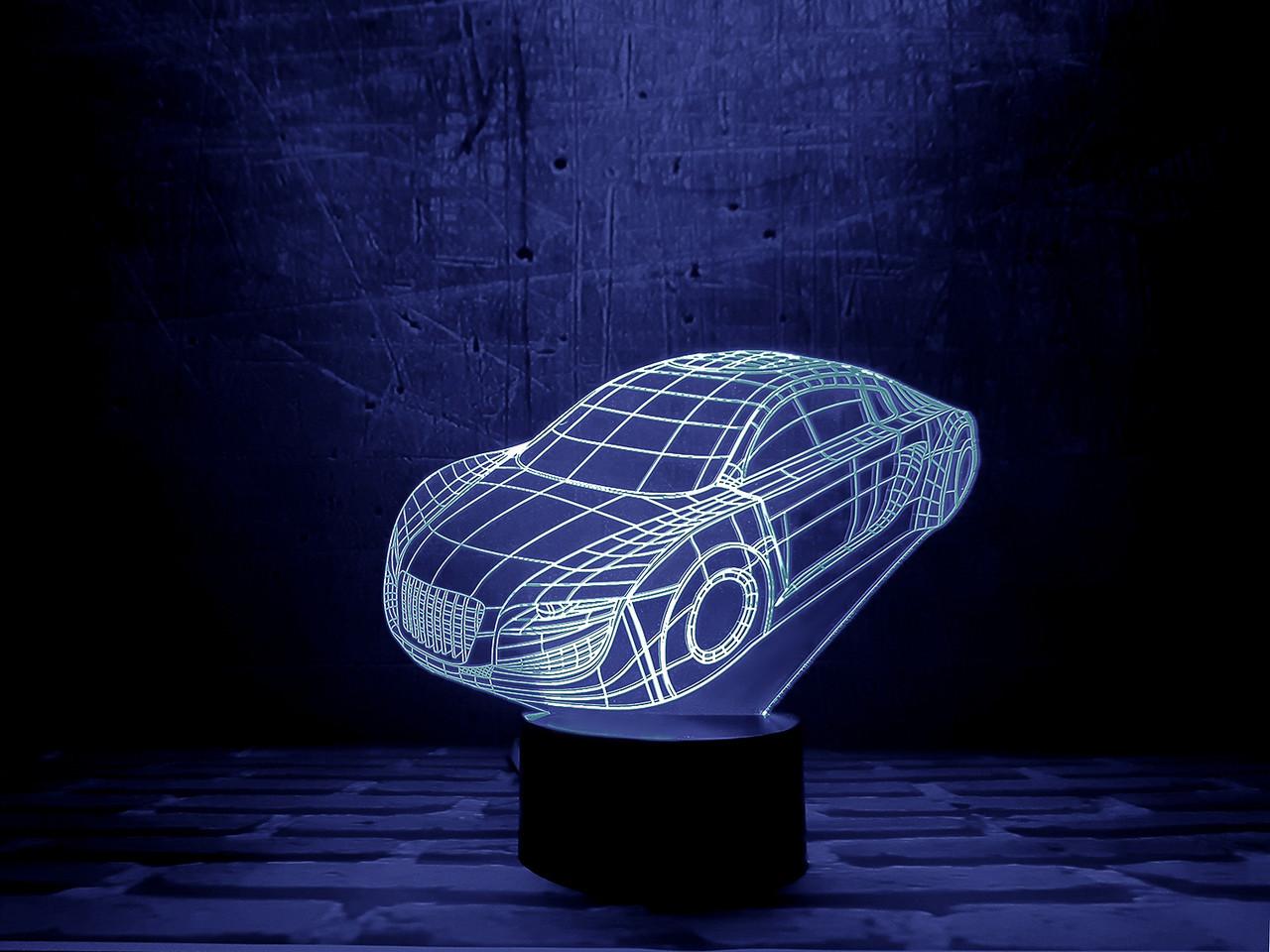 """Сменная пластина для 3D светильников """"Автомобиль"""" 3DTOYSLAMP"""