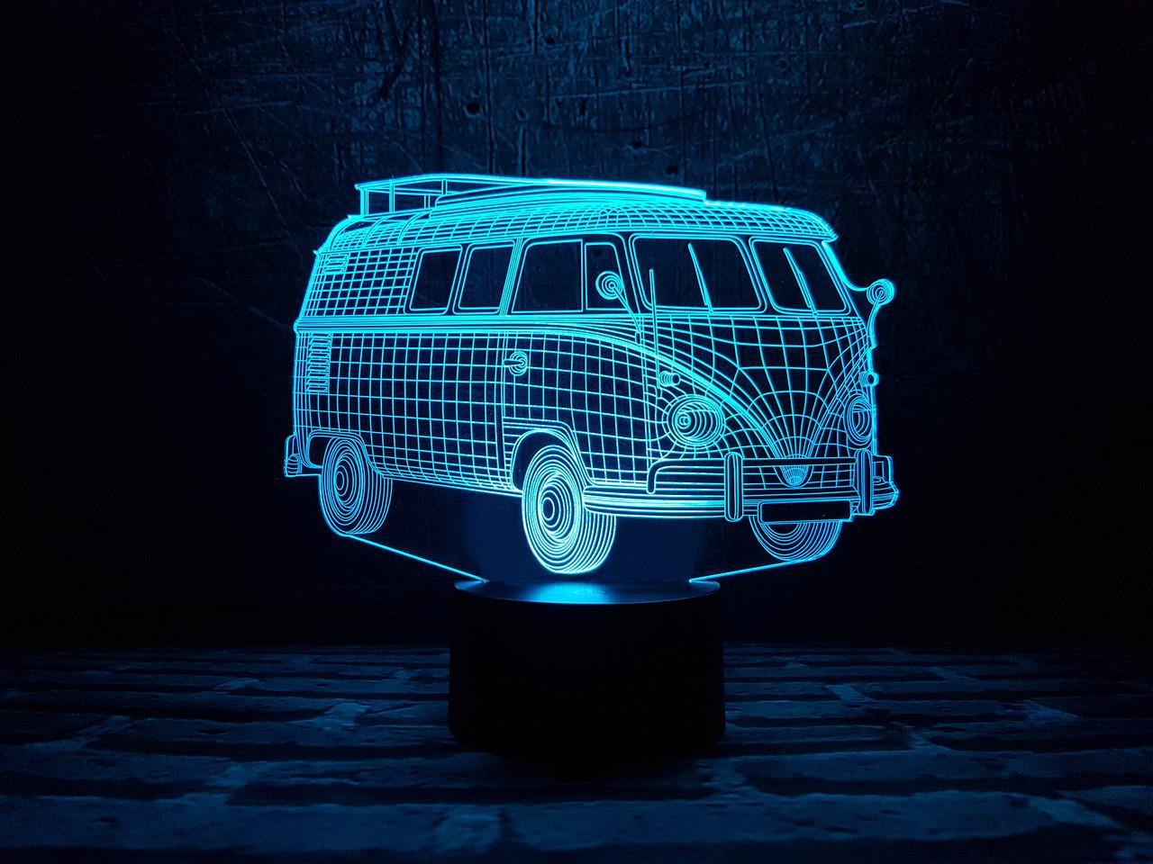 """Сменная пластина для 3D светильников """"Автомобиль 8"""" 3DTOYSLAMP"""