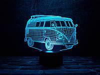 """Сменная пластина для 3D светильников """"Автомобиль 8"""" 3DTOYSLAMP, фото 1"""