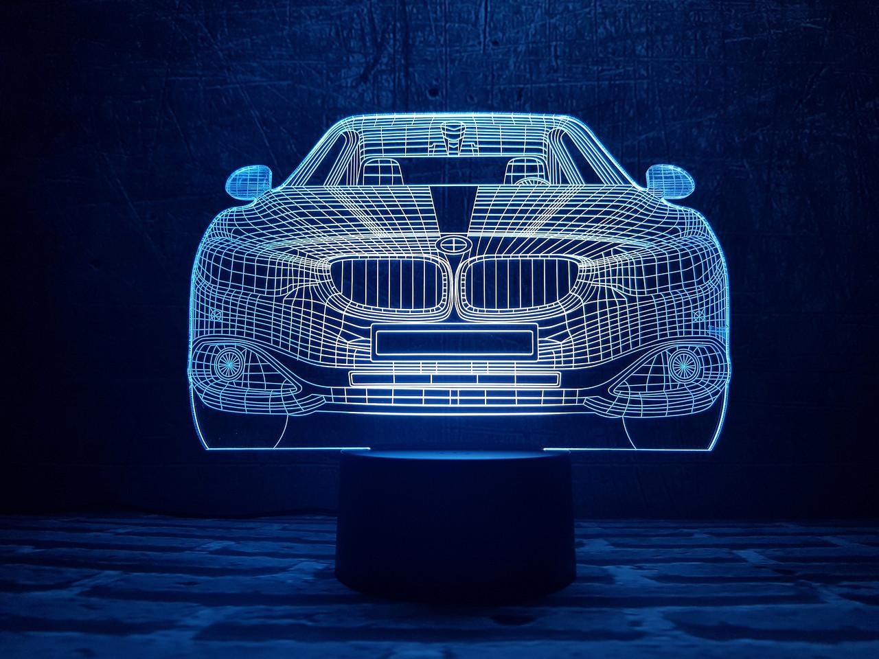 """Сменная пластина для 3D светильников """"Автомобиль 10 """" 3DTOYSLAMP"""