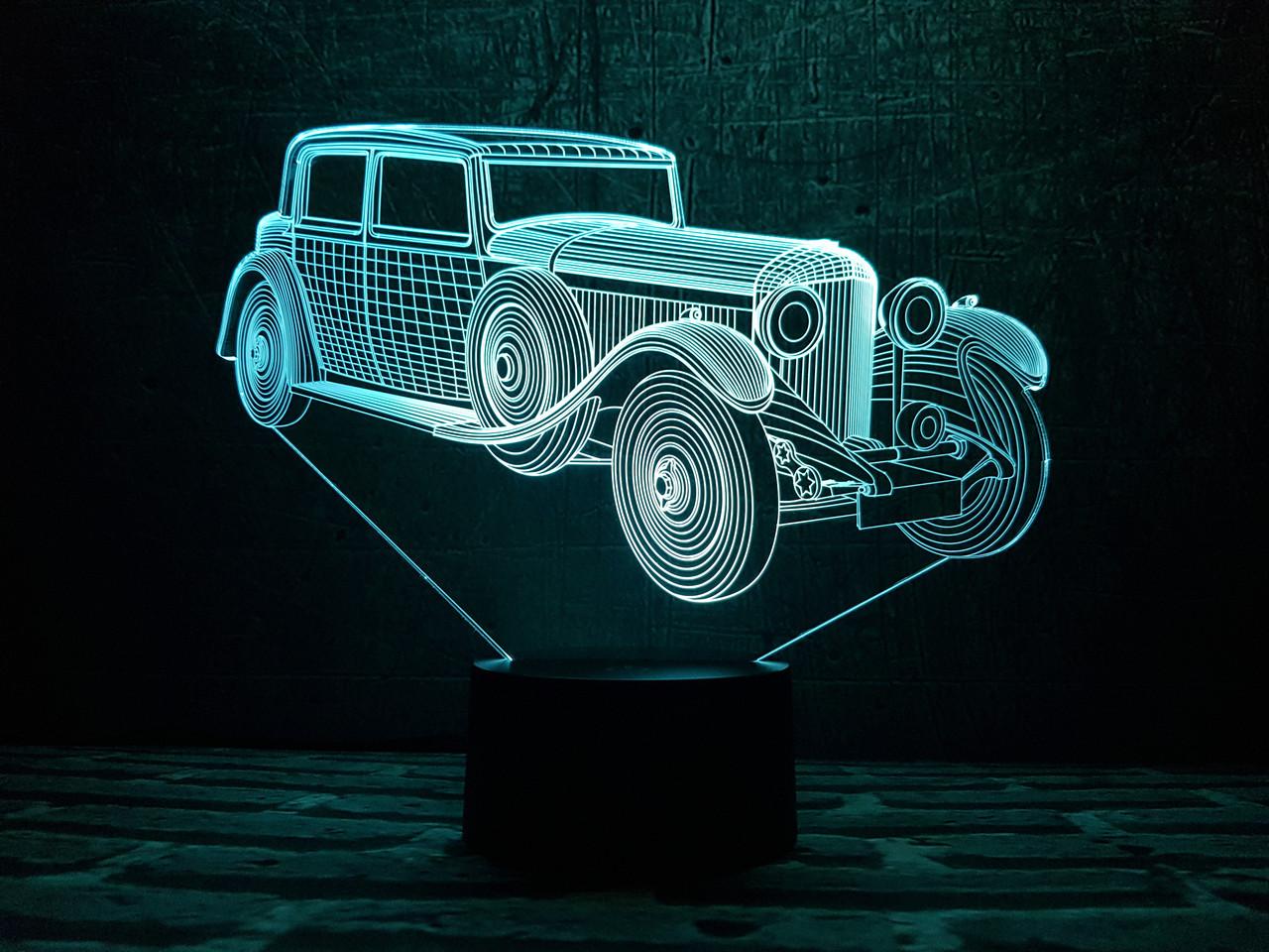 """Сменная пластина для 3D светильников """"Автомобиль 11 """" 3DTOYSLAMP"""