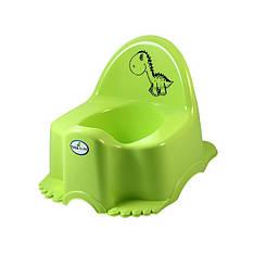 Горшок ЭКО ДИНОЗАВР Tega Baby светло-зеленый