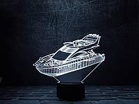 """Сменная пластина для 3D светильников """"Яхта"""" 3DTOYSLAMP, фото 1"""