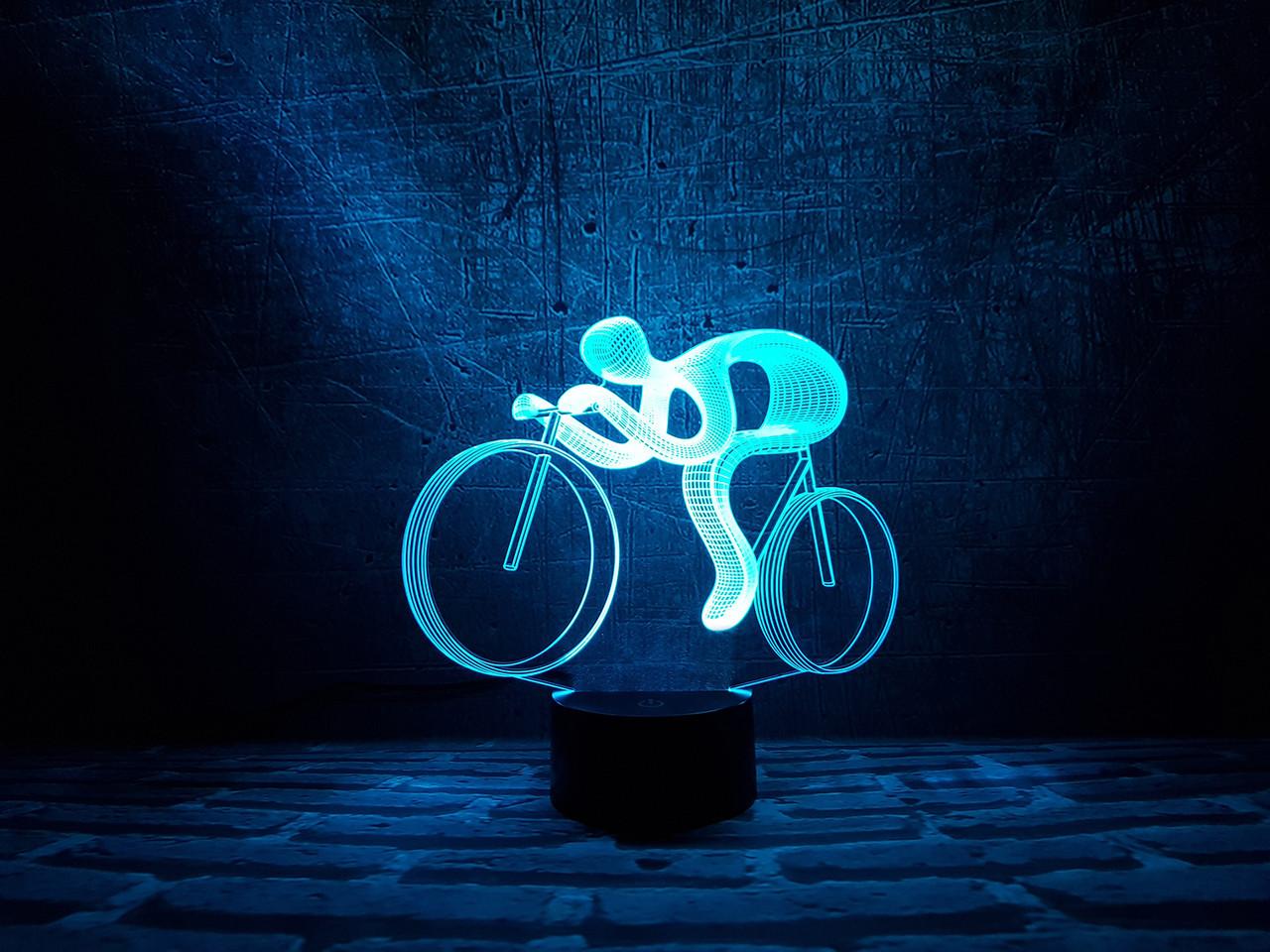 """Сменная пластина для 3D светильников """"Велосипед 2"""" 3DTOYSLAMP"""