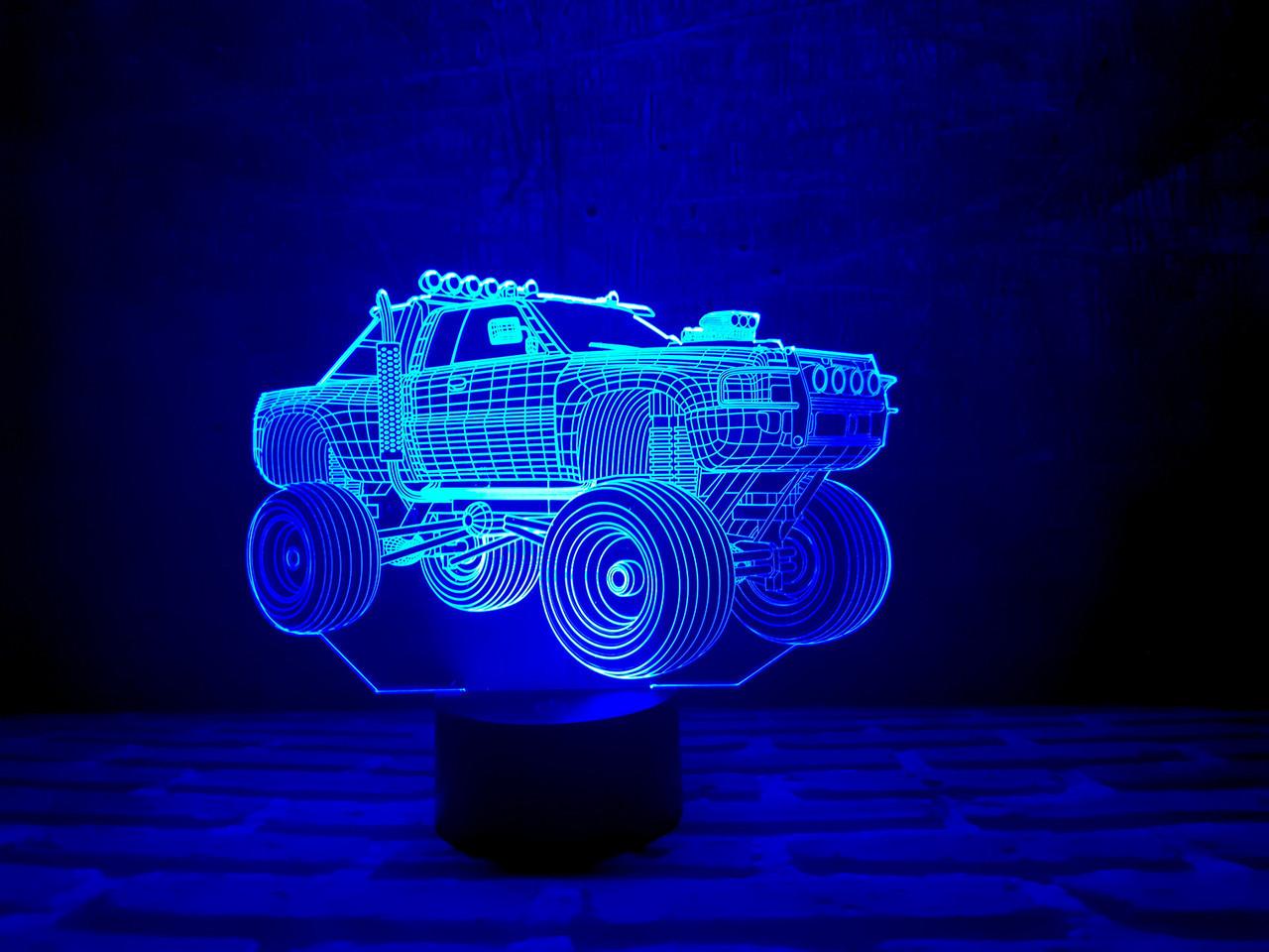 """Сменная пластина для 3D светильников """"Автомобиль 4"""" 3DTOYSLAMP"""