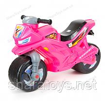 Беговел-мотоцикл 2-х колесный, розовый