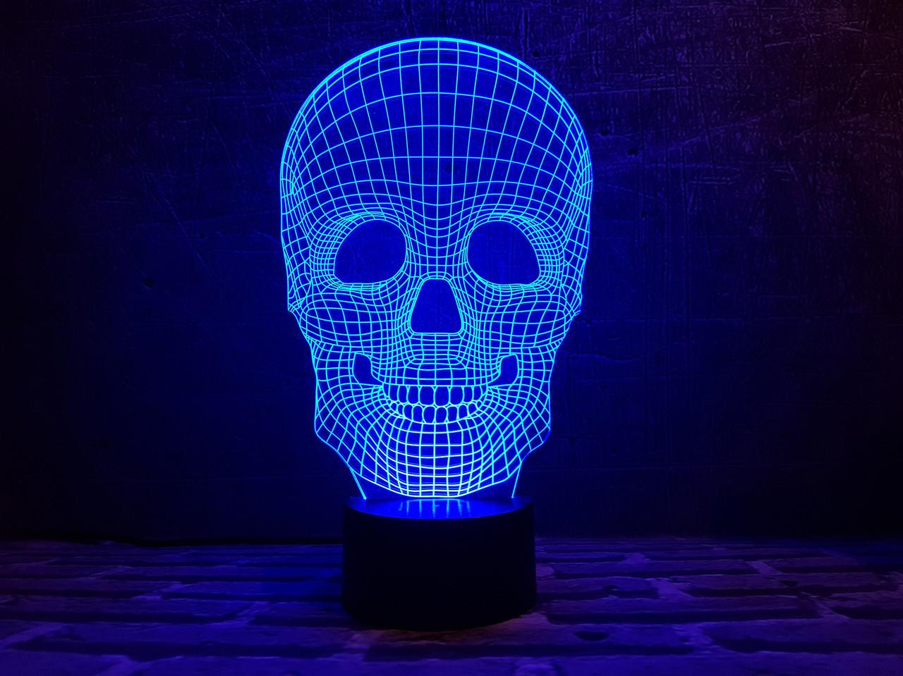 """Сменная пластина для 3D светильников """"Череп 4"""" 3DTOYSLAMP"""