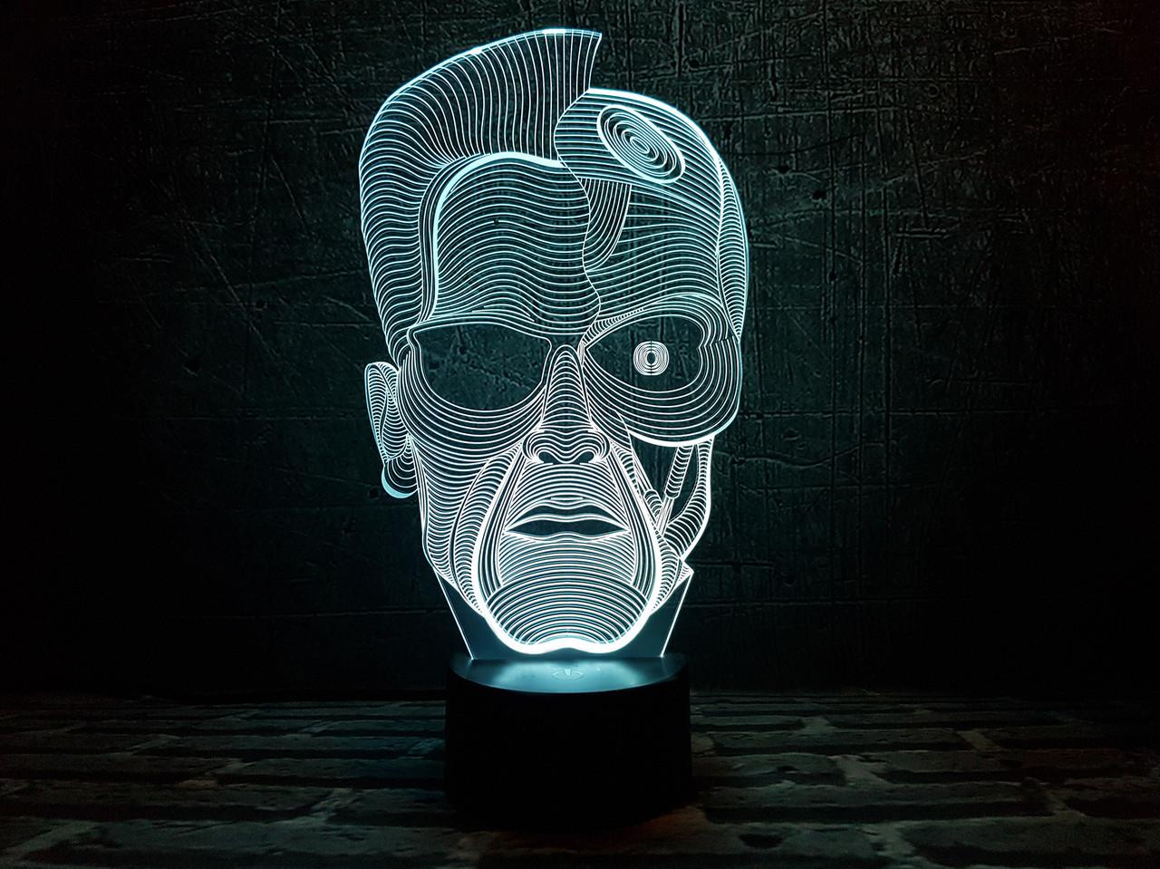 """Сменная пластина для 3D светильников """"Терминатор"""" 3DTOYSLAMP"""