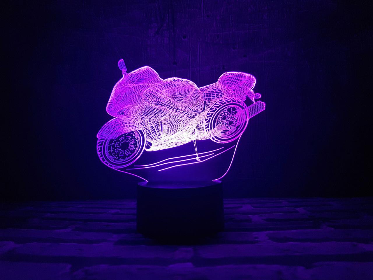 """Сменная пластина для 3D светильников """"Мотоцикл"""" 3DTOYSLAMP, фото 1"""