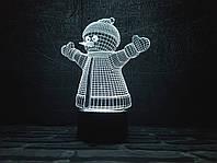 """Сменная пластина для 3D Светильников """"Снеговик """" 3DTOYSLAMP, фото 1"""