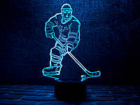 "3D ночник ""Хоккеист"" 3DTOYSLAMP, фото 1"