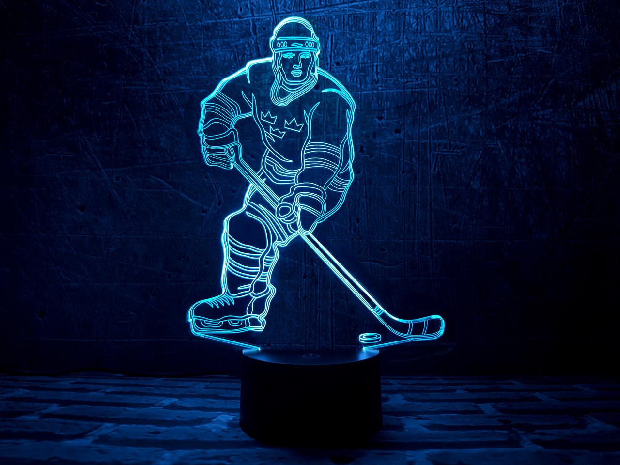 """Сменная пластина для 3D ламп """"Хоккеист"""" 3DTOYSLAMP"""