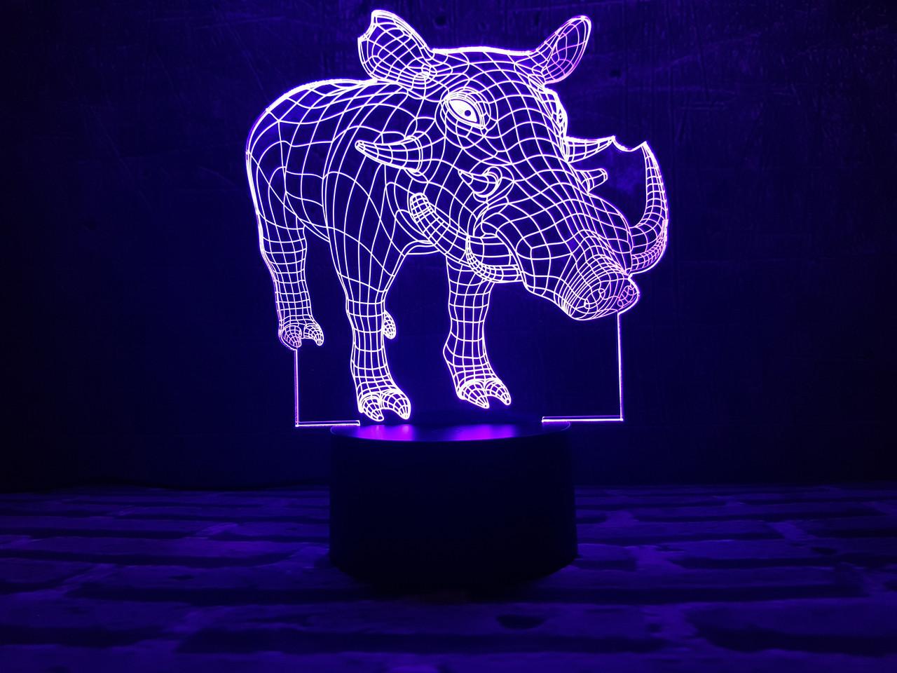 """Сменная пластина для 3D ламп """"Пумба"""" 3DTOYSLAMP"""