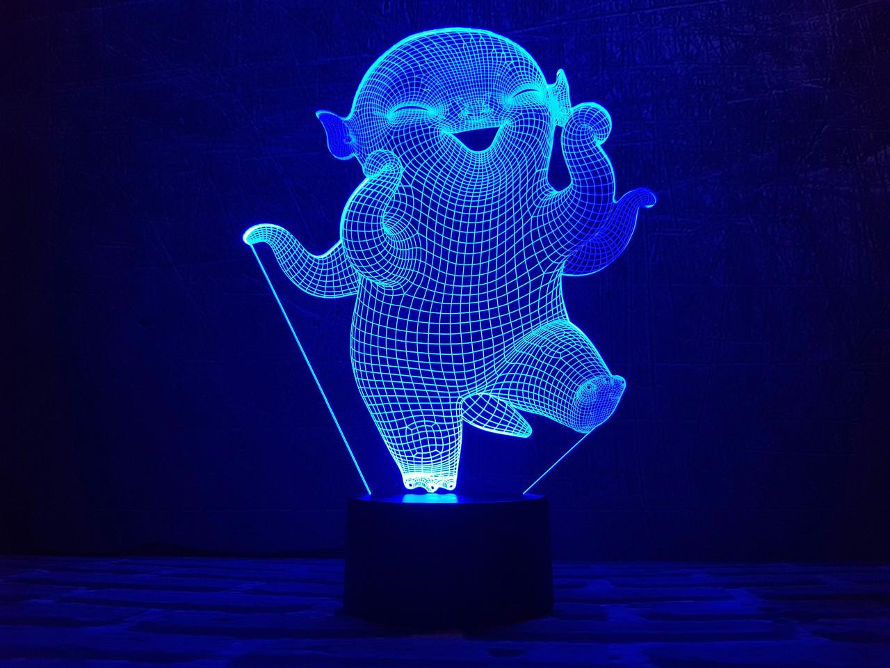 "Сменная пластина для 3D ночников ""Улыбака"" 3DTOYSLAMP"