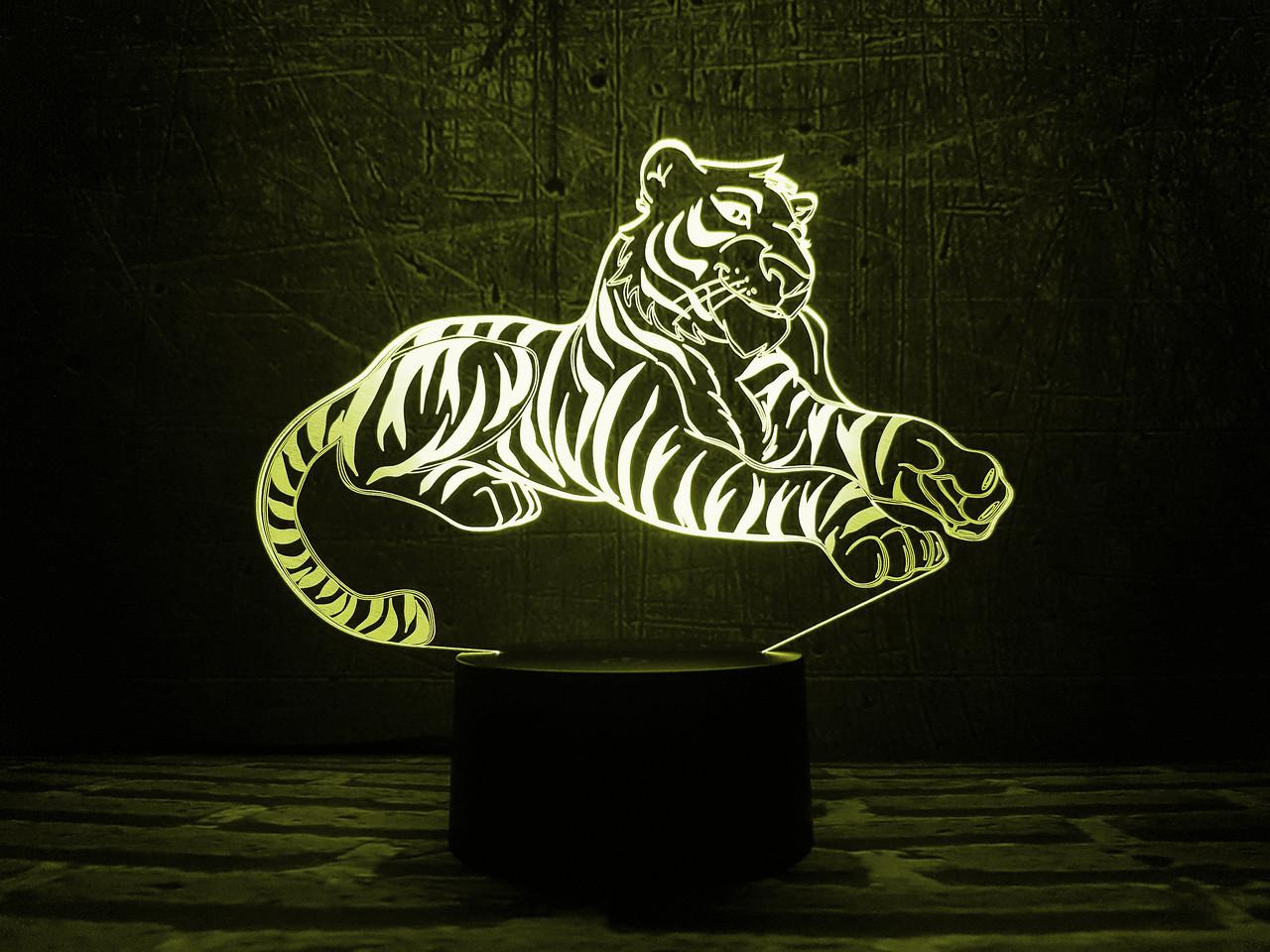 "Сменная пластина для 3D ночника ""Тигр"" 3DTOYSLAMP"