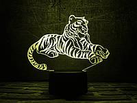 """Сменная пластина для 3D ночника """"Тигр"""" 3DTOYSLAMP, фото 1"""
