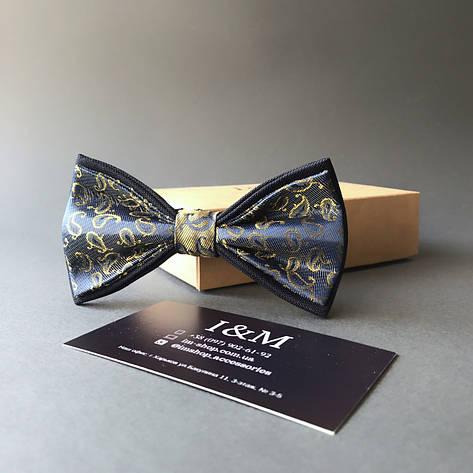Галстук-бабочка I&M Craft синий с золотистым переливом (0102004016), фото 2