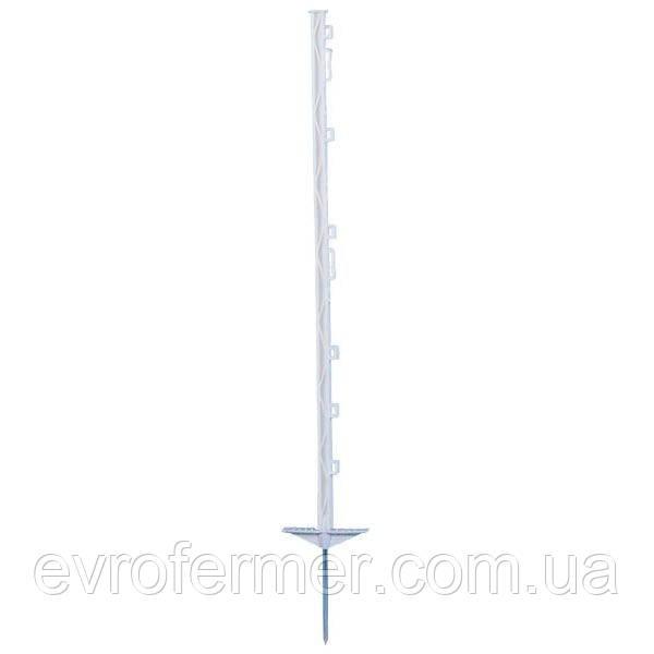Пластиковый столбик 105 см с двойной подножкой для электрической изгороди, AKO