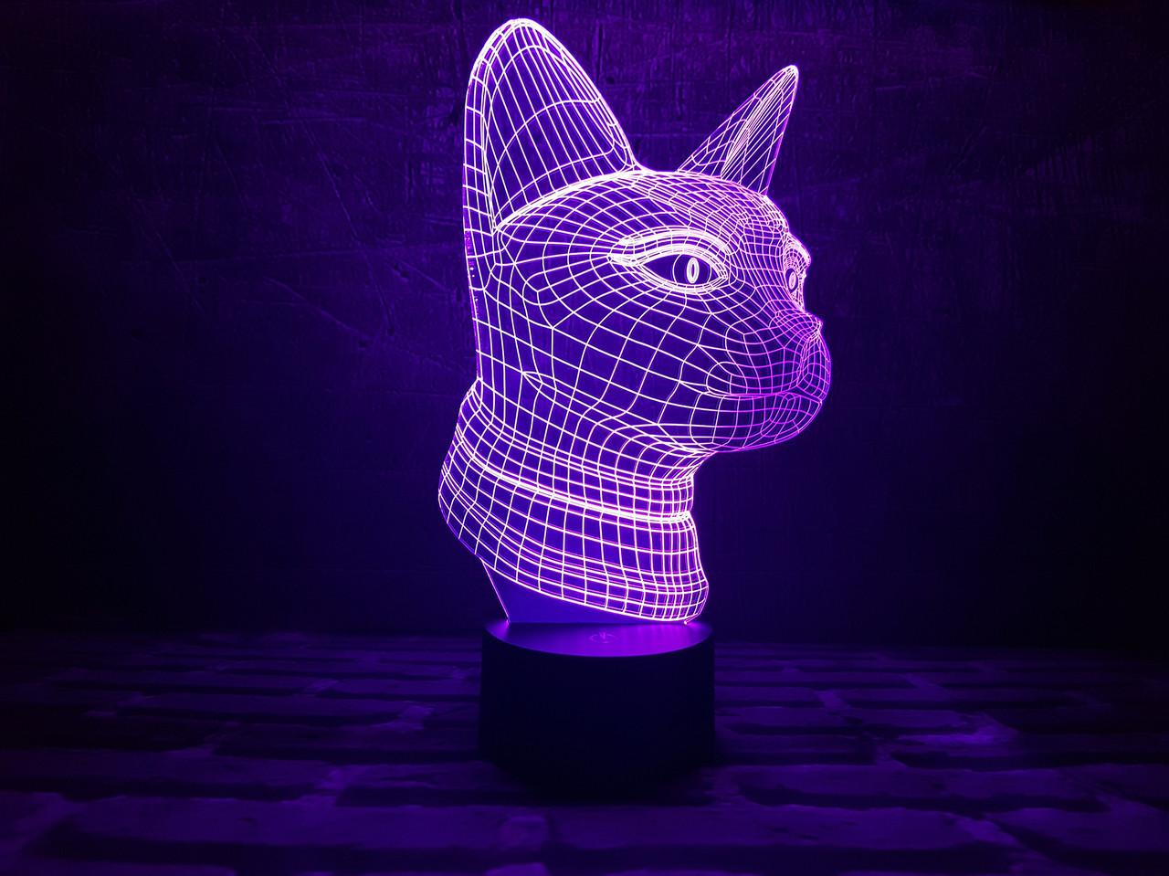 """Детский ночник - светильник """"Кошечка"""" 3DTOYSLAMP"""