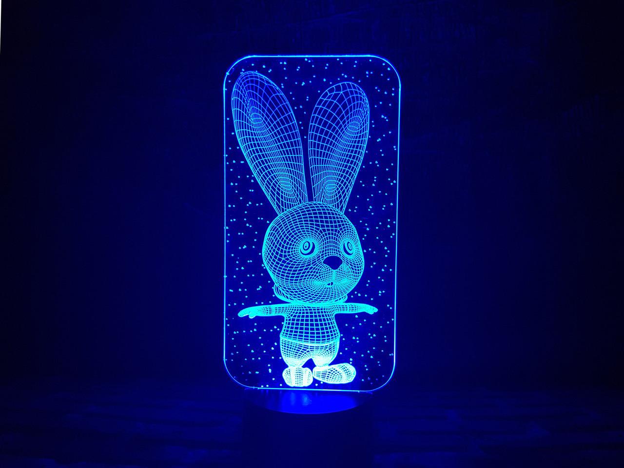 """Детский ночник - светильник """"Зайчик"""" 3DTOYSLAMP"""