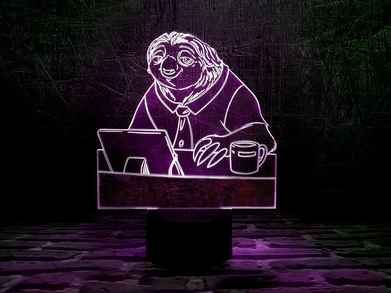 """Детский ночник - светильник """"Блиц"""" 3DTOYSLAMP"""