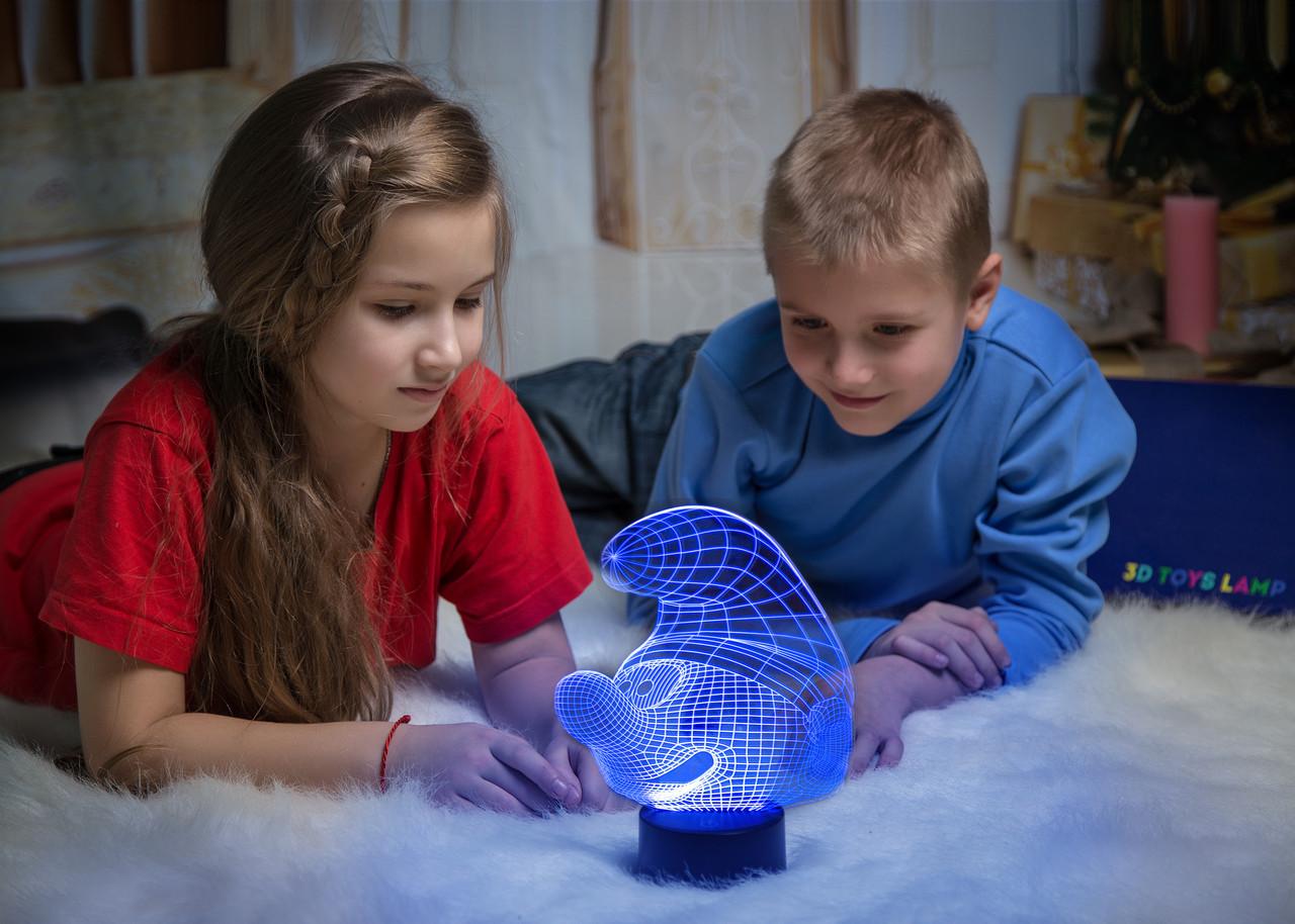 """Детский ночник - светильник """"Смурфик"""" 3DTOYSLAMP, фото 1"""